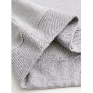 Letter Patched Loose Sweatshirt -