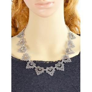 Filigree Heart Circle Metal Necklace -