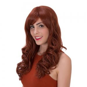 Prevailing Long Side Bang Curly Synthetic Wig -