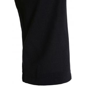 Plus Size Color Block Sheath Dress -