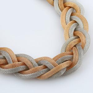 Hemp Flowers Braid Necklace - GOLDEN