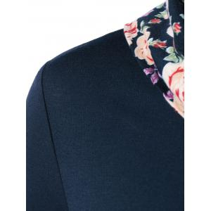 Side Collar Floral Trim Blouse -