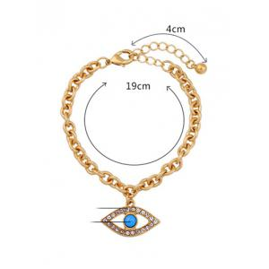 Rhinestone Hollow Eye Charm Bracelet -