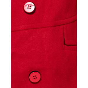 Double Breasted Faux Pocket Coat -