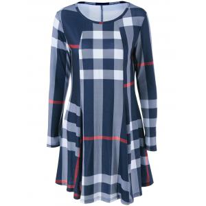 Fit and Flare Plaid Dress -