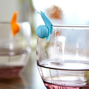 Kitchen Tool 6PCS Cartoon Snail Silicon Cup Hanging Distinguish Clips -
