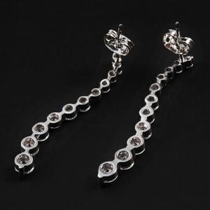 Pair of Rhinestones Long Earrings -