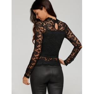 Sheer Fitted Lace Blouse -