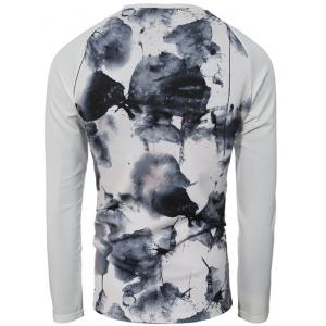 Splatter Paint Printed Raglan Sleeve Sweatshirt -