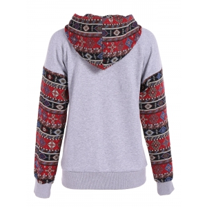 Front Pocket Pullover Jacquard Hoodie -