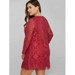 Openwork Lace A-Line Dress -