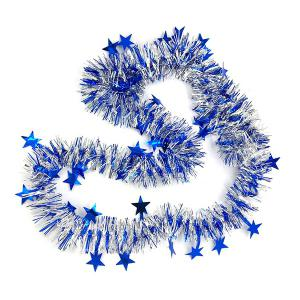 5PCS Christmas Party Supplies Colorful Ribbon Star Rattan Decoration - COLORFUL