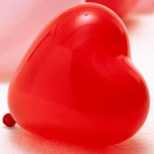 100PCS Christmas Festival Wedding Party Supplies Heart Balloon Decoration - COLORFUL
