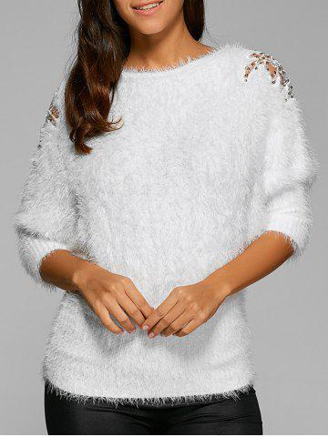 Affordable Batwing Sleeves Mohair Mesh Sweater