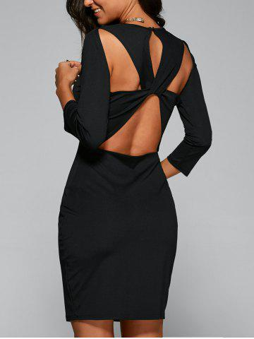 Shop Bandage Cut Out Bodycon Dress with Sleeves