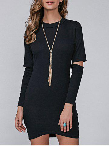 Store Bodycon Long Sleeve Dress BLACK L