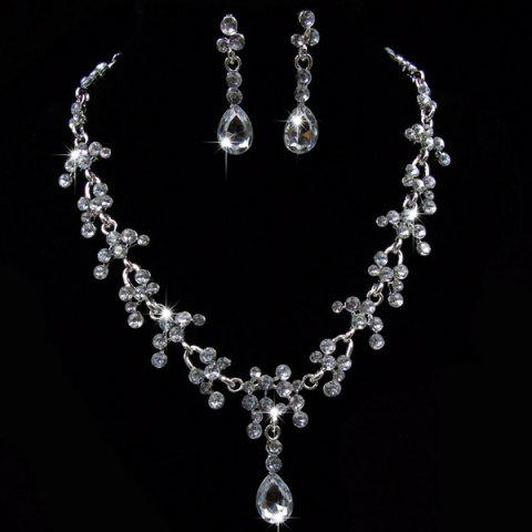 Hot Wedding Floral Tear Shape Necklace Set