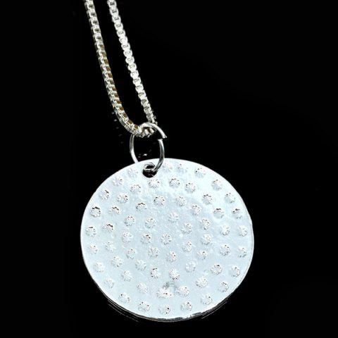 Buy Engraved You Are My Sunshine Alloy Necklace - SILVER  Mobile