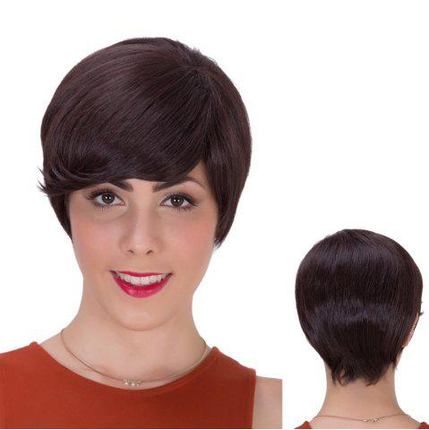 Fashion Gorgeous Short Side Bang Straight Synthetic Wig