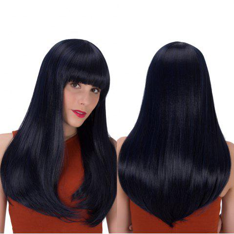 New Long Full Bang Tail Adduction Gorgeous Synthetic Wig