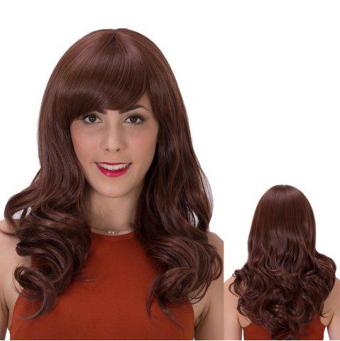 Best Long Side Bang Wavy Impressive Synthetic Wig