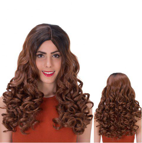 Shop Brown Gradients Long Side Parting Wavy Synthetic Wig