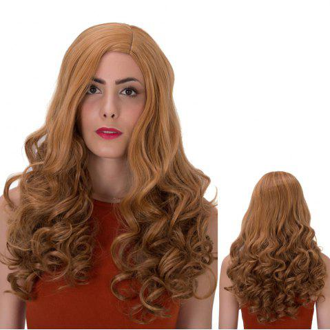 Shops Long Side Parting Wavy Shaggy Synthetic Wig