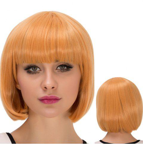 Sale Fascinating Cosplay Synthetic Short Full Bang Bob Haircut Wig
