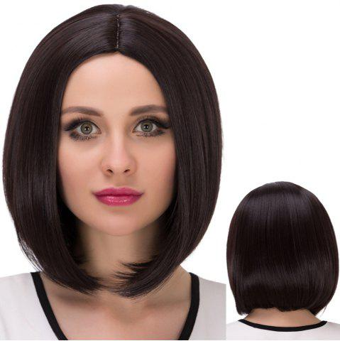 Buy Short Centre Parting Straight Bob Synthetic Wig DEEP BROWN