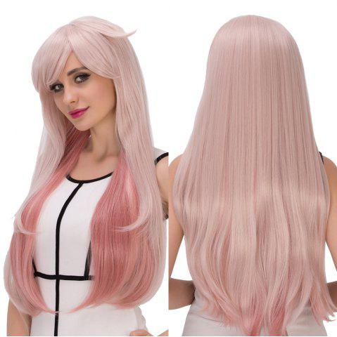 Unique Long Side Bang Layered Tail Adduction Double Color Cosplay Synthetic Wig