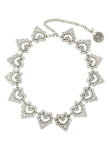 New Filigree Heart Circle Metal Necklace