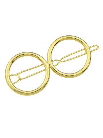 Outfits Openwork Double Circle Hairpin
