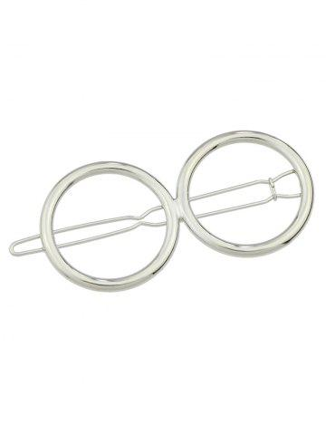 Unique Openwork Double Circle Hairpin