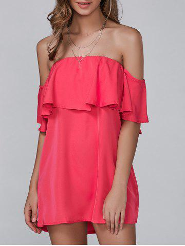 Affordable Off The Shoulder Ruffles Mini Dress