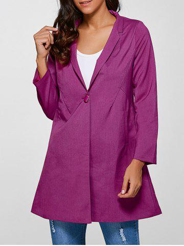 Sale Single Button Slimming Coat