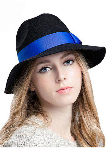 Sale Streetwear Bowknot Ribbon Felt Britain Hat