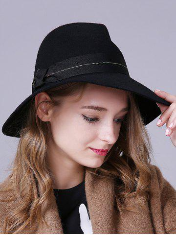 Outfit Streetwear Knotted Ombre Sewing Thread Band Felt Jazz Hat