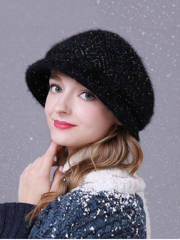 New Winter Faux Fur Wave Stripe Newsboy Cap