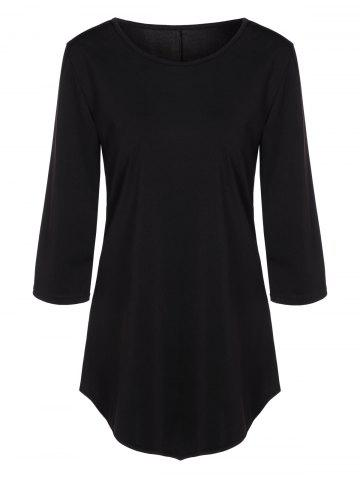 Outfits Asymmetrical T Shirt BLACK XL