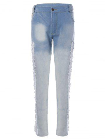 Hot Lace Patchwork Pencil Jeans