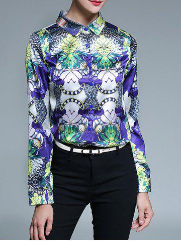 Discount Fitted Floral Print Shirt