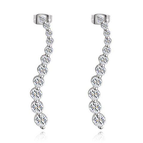 Cheap Pair of Rhinestones Long Earrings