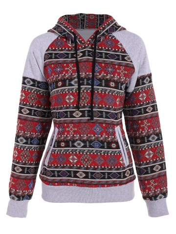 Hot Front Pocket Pullover Jacquard Hoodie COLORMIX XL