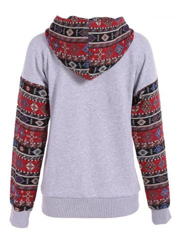 Outfit Front Pocket Pullover Jacquard Hoodie - M COLORMIX Mobile