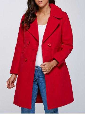 Outfit Double Breasted Faux Pocket Coat