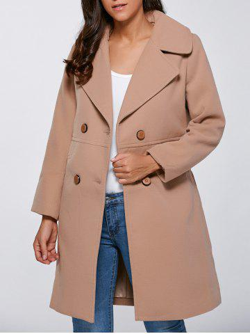 Sale Double Breasted Faux Pocket Coat