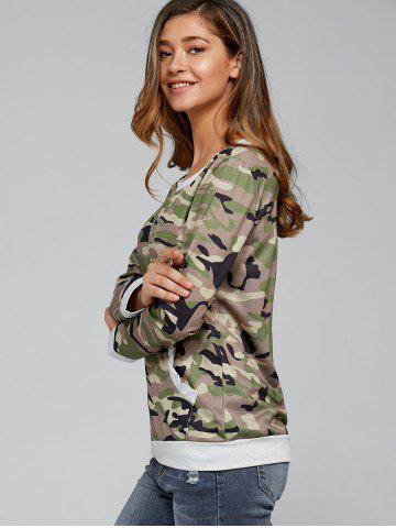 Trendy Long Sleeve Pocket Army Camo T-Shirt - L CAMOUFLAGE Mobile