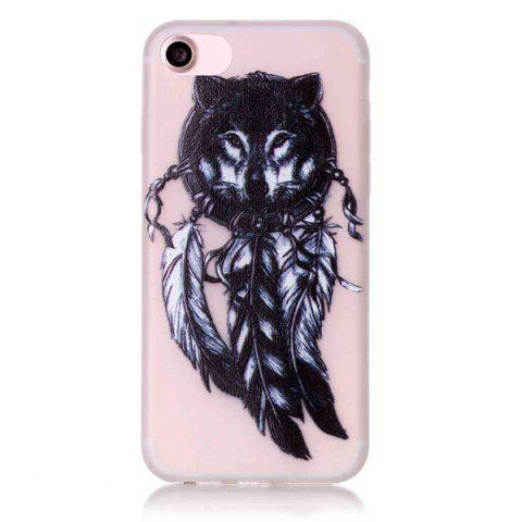 Outfits Silicon Wolf Feather Night Luminous Phone Back Case For iPhone 7