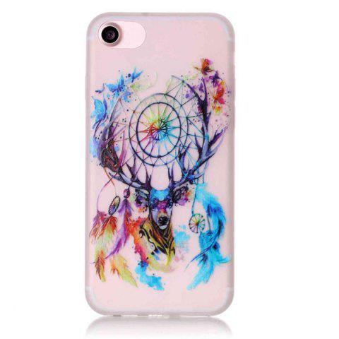 New Deer Head TPU Silica Night Noctilucent Phone Back Case For iPhone 7 - TRANSPARENT  Mobile