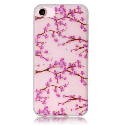 Trendy Noctilucent Floral Soft Clear TPU Back Case For iPhone 7
